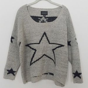 Urban Outfitters Maddison Black Star Sweater